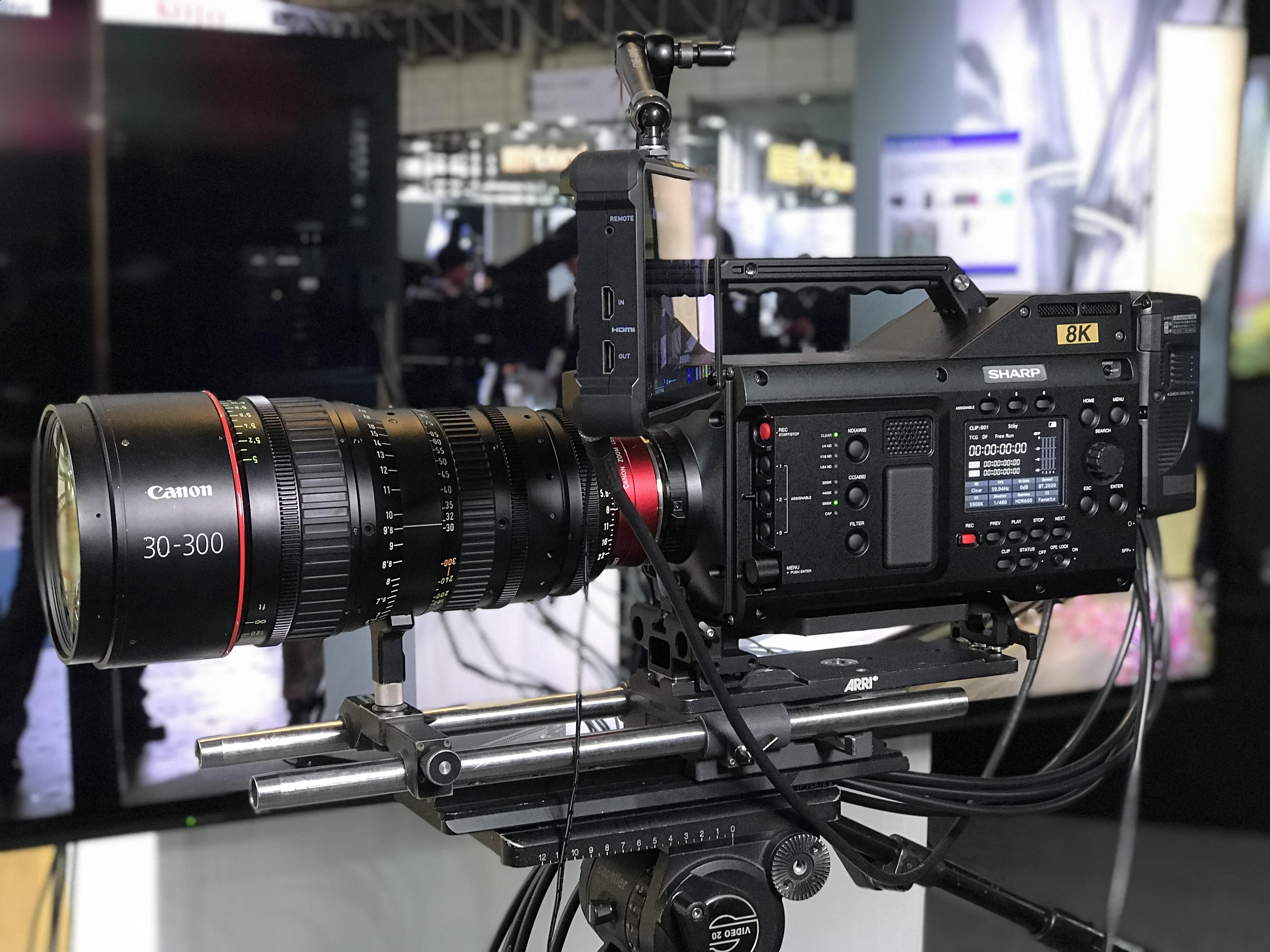 Hands-on with the Sharp 8K Super 35mm CMOS camera – Interbee 2017