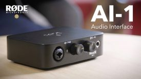 Introducing the RØDE AI 1 Studio Quality Audio Interface
