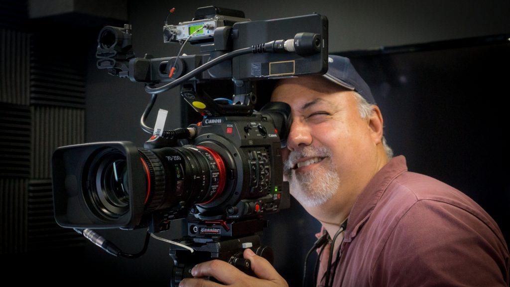 Erik shooting with Compact Zoom 70-200