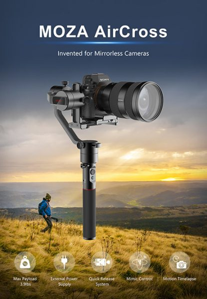 New Moza Aircross Gimbal For Mirrorless Camera From Gudsen