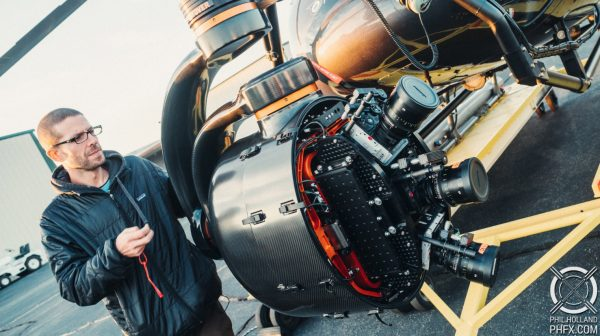 Shooting 100 megapixel aerials with 3X RED Weapon 8K VV Monstro cameras in Shotover's new K1 Hammerhead