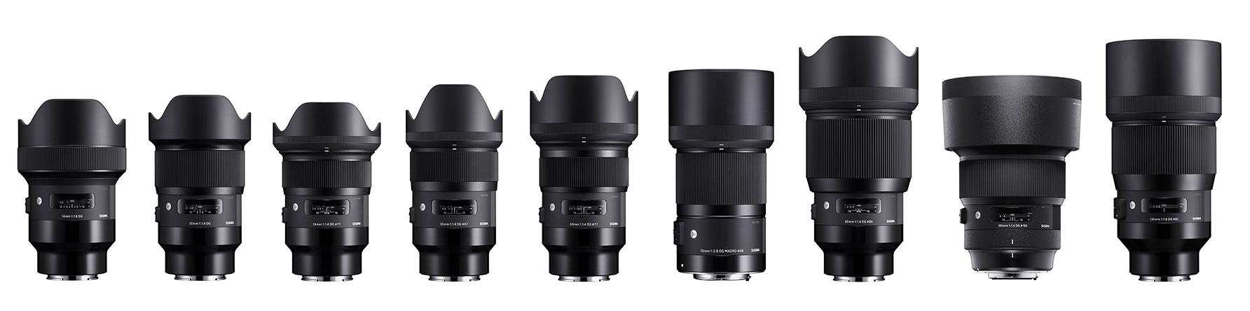 Sigma Announce Art Lenses For Sony E Mount New 105mm F14 Dg Hsm 35mm I 14mm F18 20mm 24mm 50mm 70mm F 28 Macro