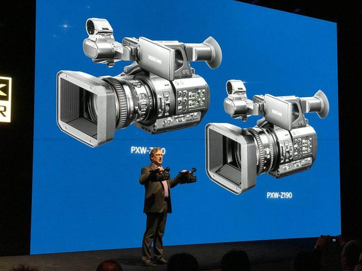 Sony unveils the 4K 4:2:2 10-bit PXW-Z280 and PXW-Z190