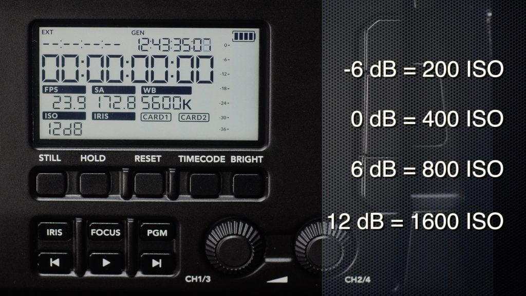 URSA Broadcast Camera Review DB Scale