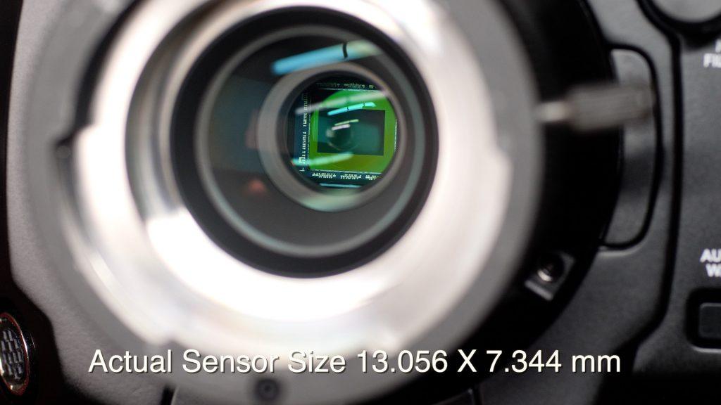 URSA Broadcast Camera Review Sensor size