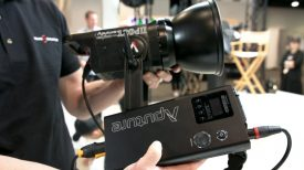 Aputure 120dII Newsshooter at NAB 2018