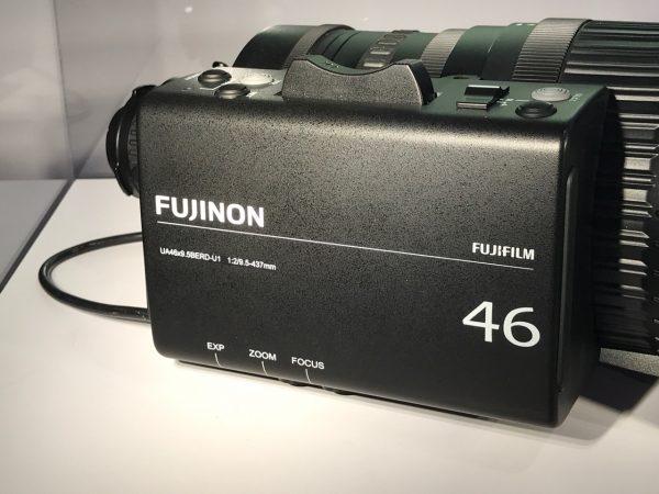 "Fujinon's whopping 46x UA46x9.5B 2/3"" ENG lens"