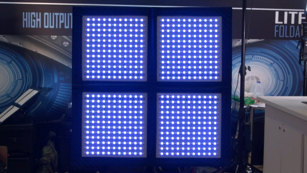 Intellytech RGB LiteCloth 2'x2′ Foldable LED Mat Newsshooter at NAB 2018