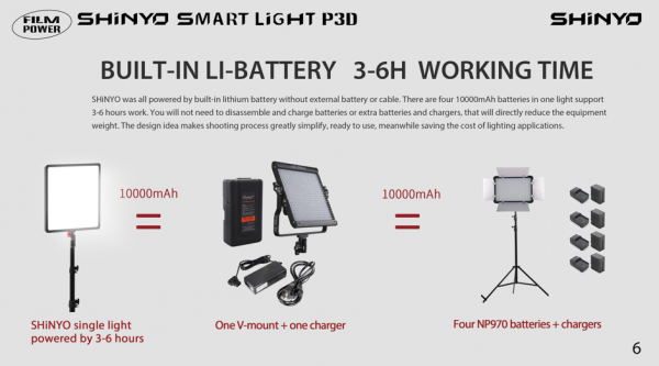 Filmpower SHiNYO P3D LED light with Smart Watch control