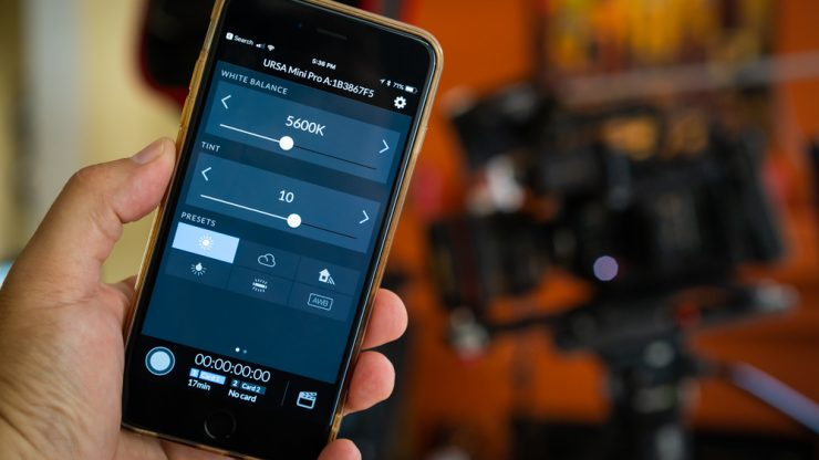 Control the URSA Mini Pro with BMD Bluetooth Control+ for