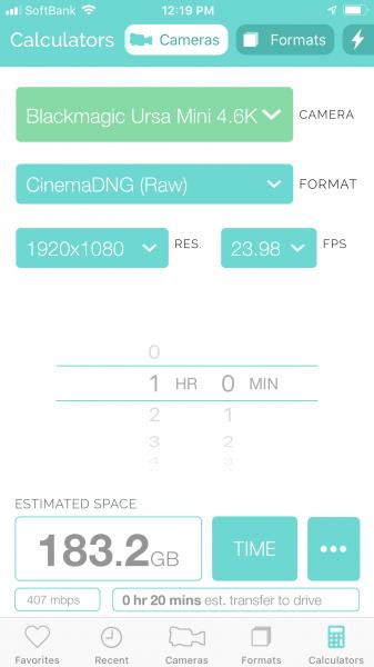 Cameras + Formats app adds a power calculator - Newsshooter