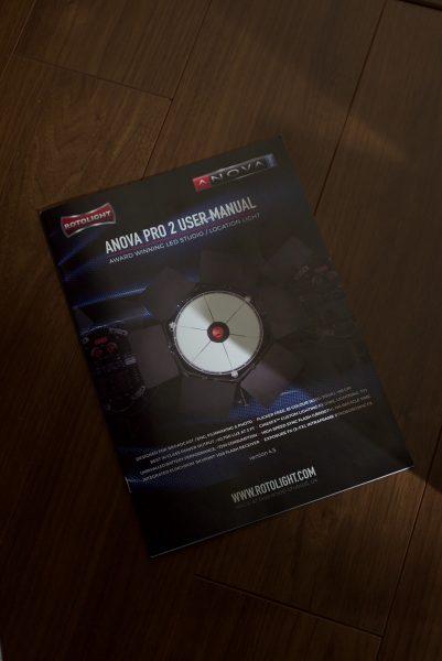 Rotolight Anova Pro 2 LED light user manual