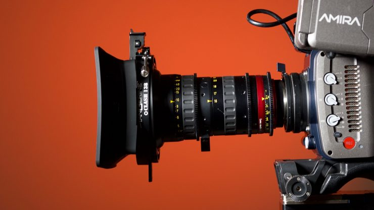 The Clash 138 mounted on an angenieux zoom lens