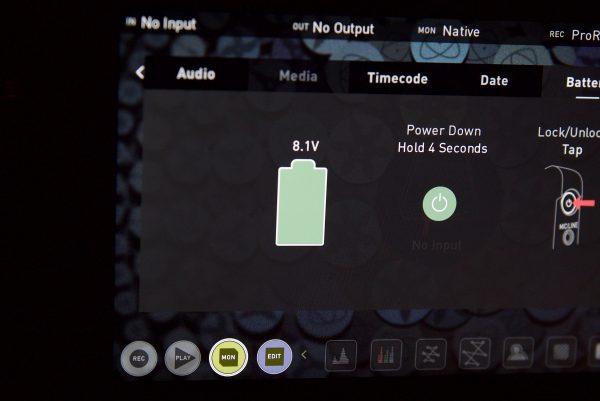 atomos battery meter