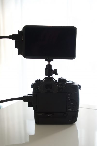 Ninja V monitor on a small camera