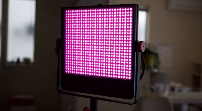 Luxli Timpani RGBAW LED Light set to pink