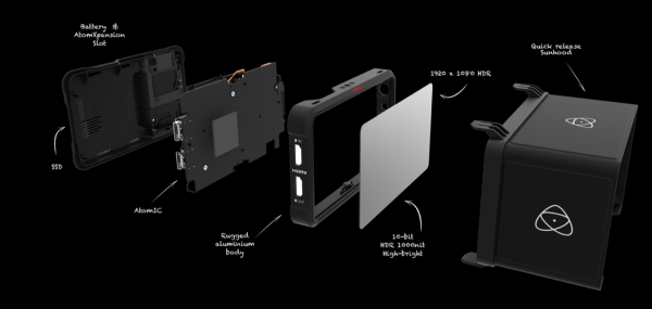 Atomos external monitor recorder parts