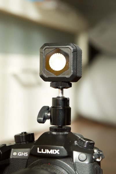 lume cube air mounted on a GH5
