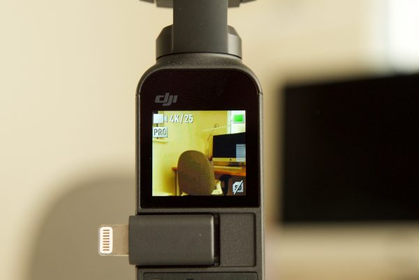 DJI Osmo screen