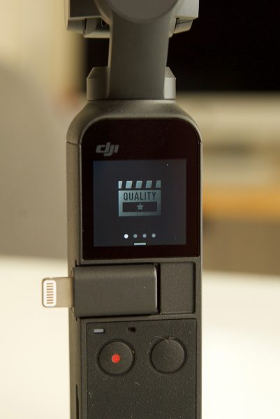 DJI Osmo Pocket touch screen