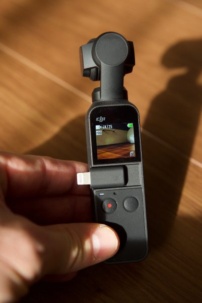 DJI Osmo Pocket size