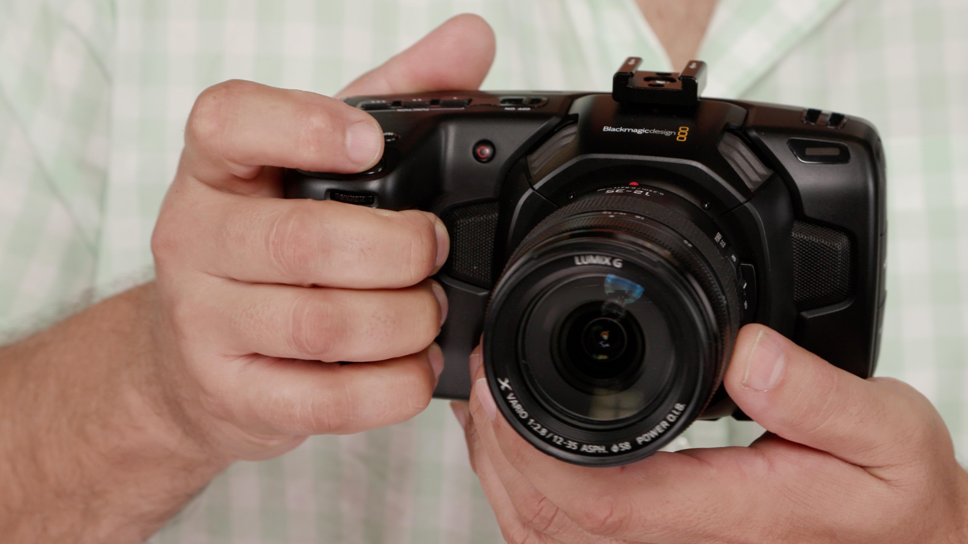 Pocket Cinema Camera 4K In hand