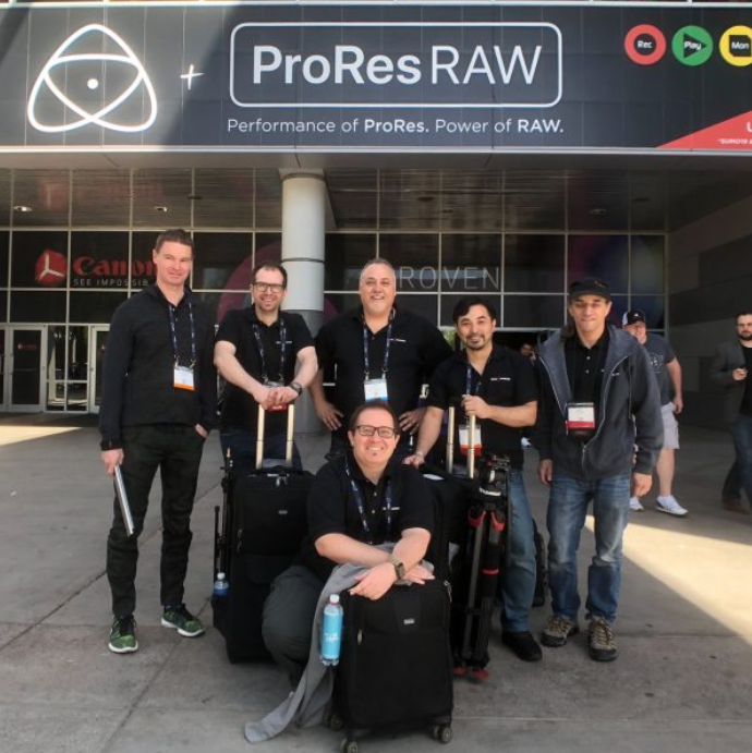 The Newsshooter team covering NAB 2018