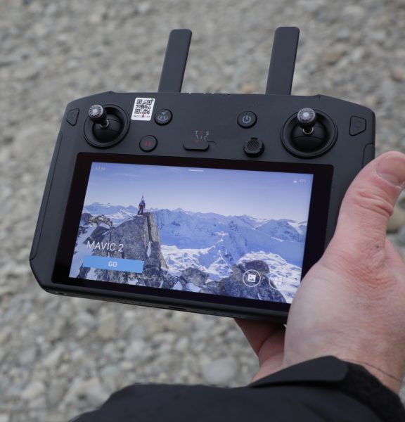 DJI Smart Controller in the hands