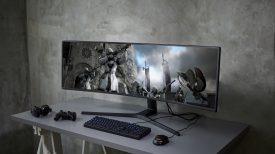 "Samsung 49"" CRG super wide monitor"