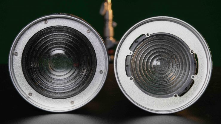 Aputure Fresnel 2X Side by side front