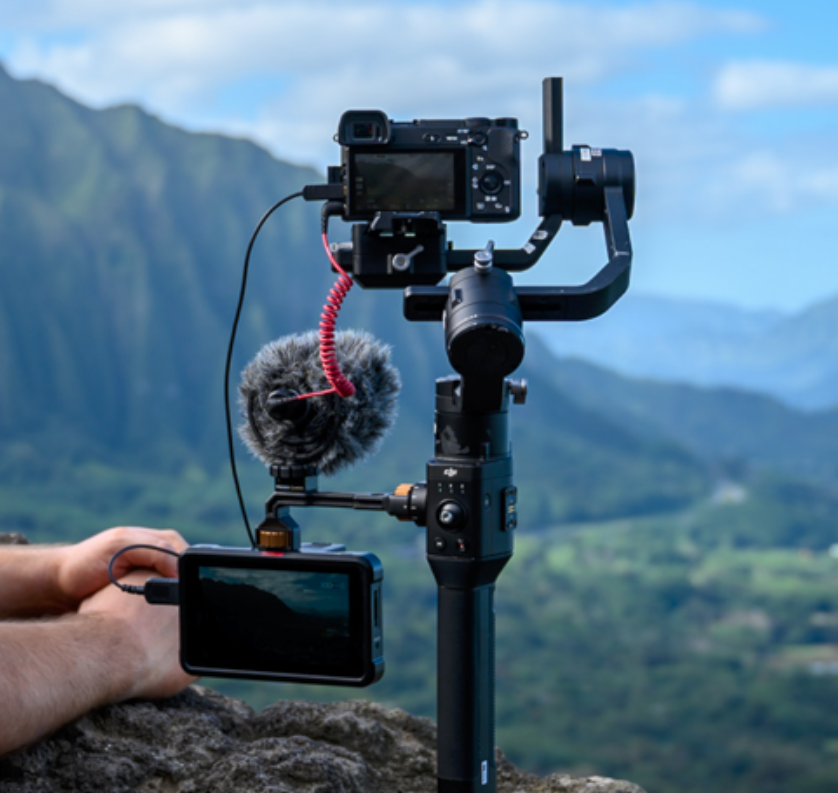 Atomos Shinobi on the PolarPro Monitor Mount