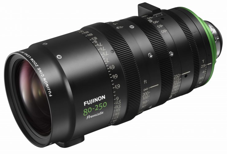 Fujinon Premista 28-100mm T2.9 and 80-250mm T2.9-3.5 large sensor zooms