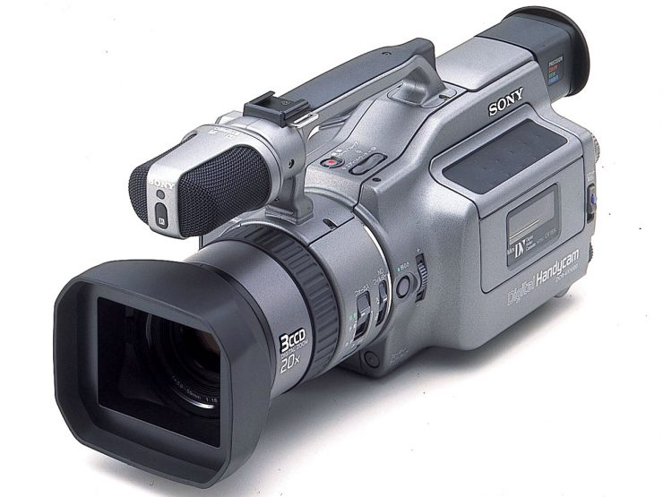 The original Sony DC-VX1000 DV Tape Camcorder