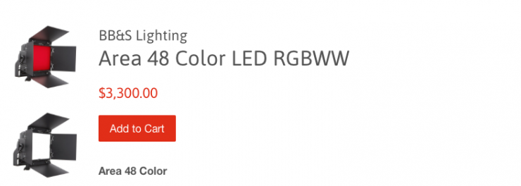 BB&S Area 48 Color LED RGBWW is now shipping