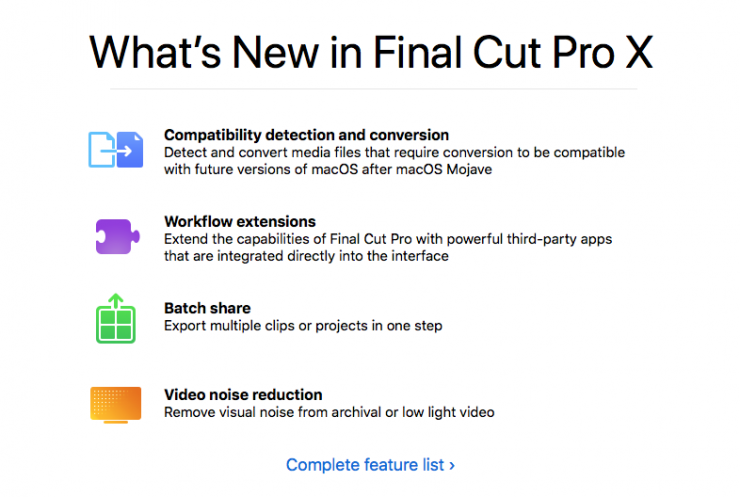 FCPX 10 4 6 Released - Newsshooter