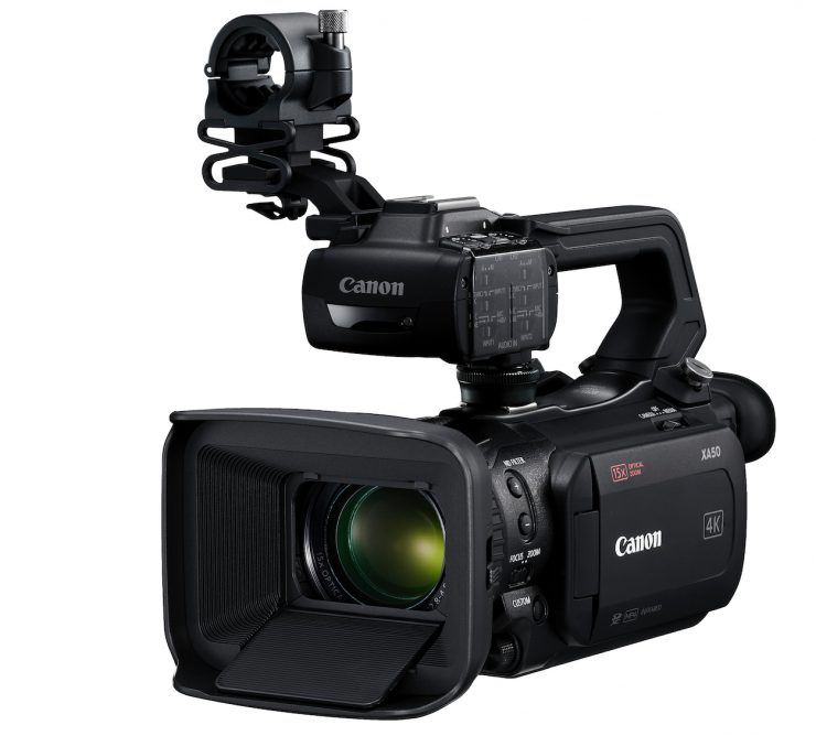Canon announces the XA40, XA50 & XA55 professional camcorders