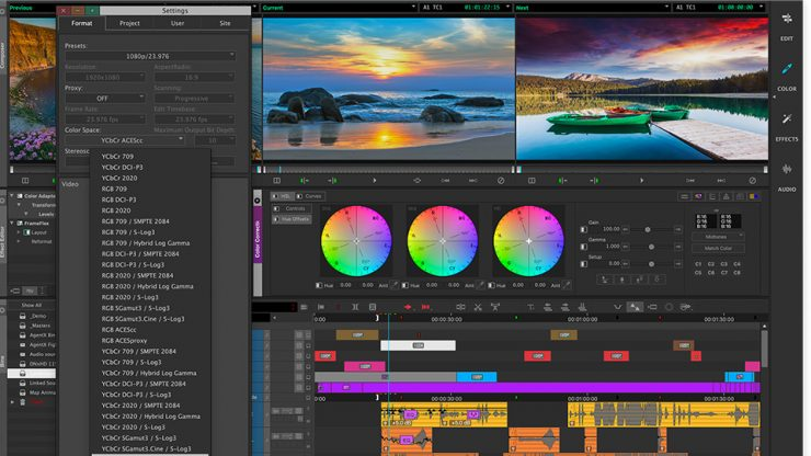1 Media Composer Movie Editing Software Color Space Options