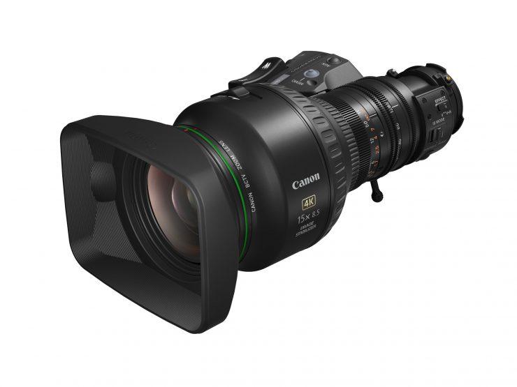 Canon CJ15ex8.5B 4K broadcast zoom lens