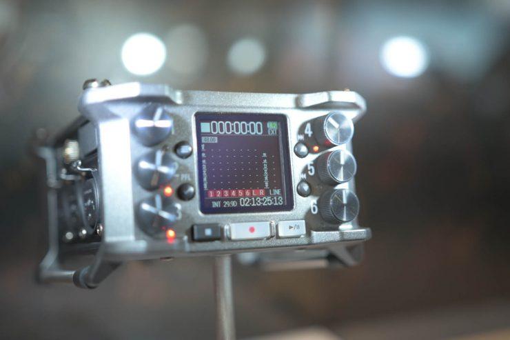 Zoom F6 audio recorder