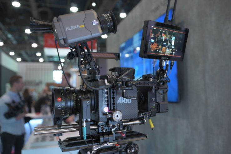 The SmallHD Cine 7 mounted on an ARRI Alexa Mini