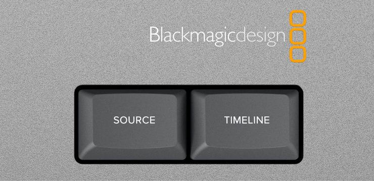 Blackmagic Design Editor Keyboard detail – Source and Timeline buttons
