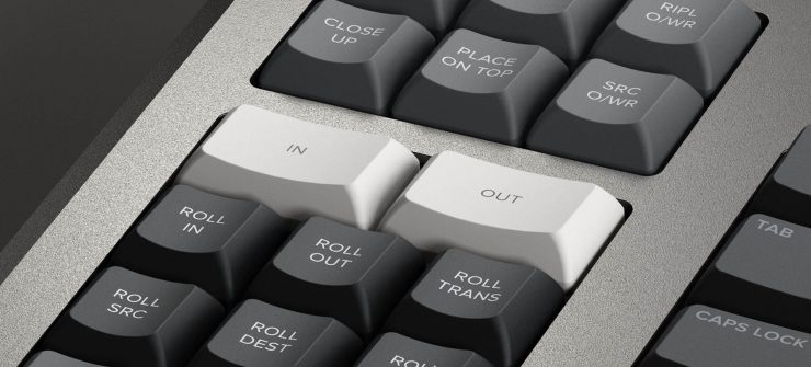 Blackmagic Design Resolve Editor Keyboard In and Out buttons