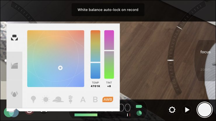 Filmic Pro v6.9.3 adds white balance lock on record
