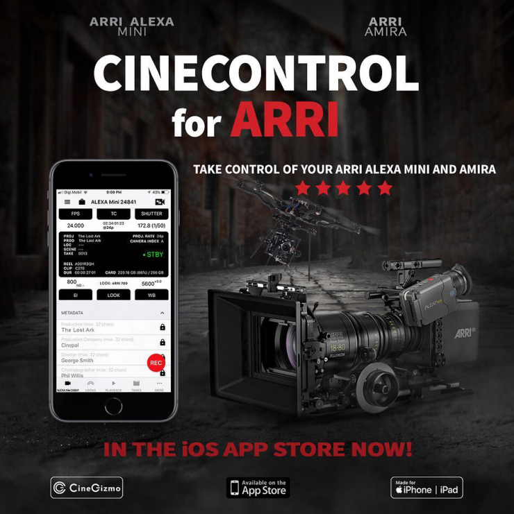 CineGizmo CineControl & CineTakes for ARRI cameras