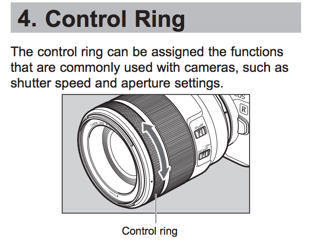 Canon will de-click the Control Ring on RF lenses