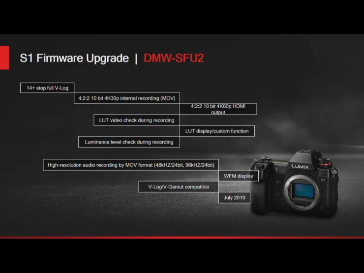 Panasonic LUMIX S1 DMW-SFU2 software upgrade key