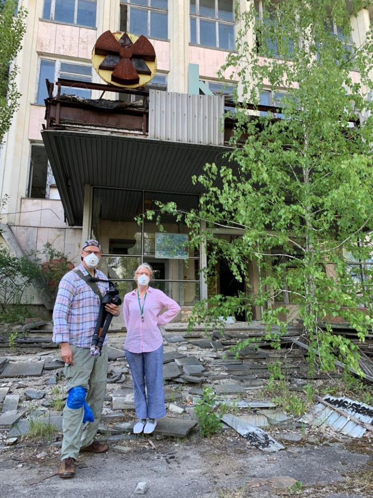 Pripyat Andy Portch and film director Steph Degroote