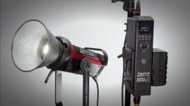 Aputure 300d II fixture and controller