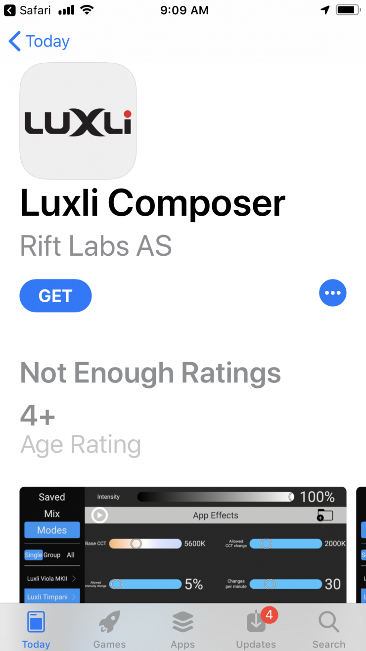 New Luxli Composer App