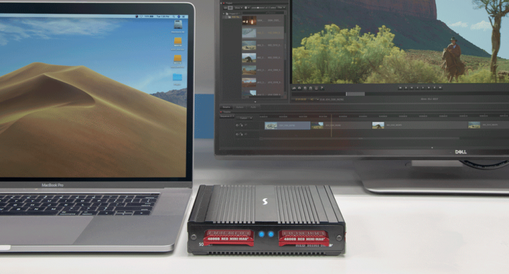 Sonnet Dual-Slot RED MINI-MAG Pro Thunderbolt 3 Card Reader